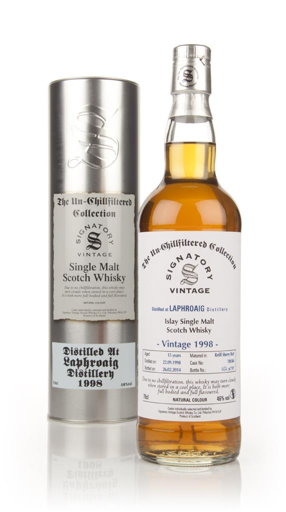 Laphroaig 15 Year Old 1998 (cask 700384) - Un-Chillfiltered (Signatory Single Malt Whisky