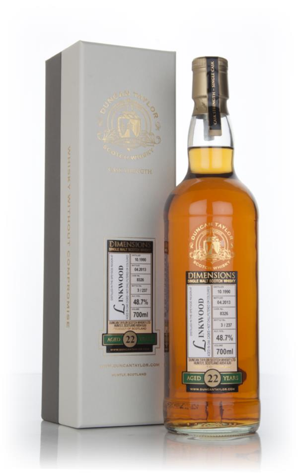 Linkwood 22 Year Old 1990 (cask 8326) - Dimensions (Duncan Taylor) Single Malt Whisky