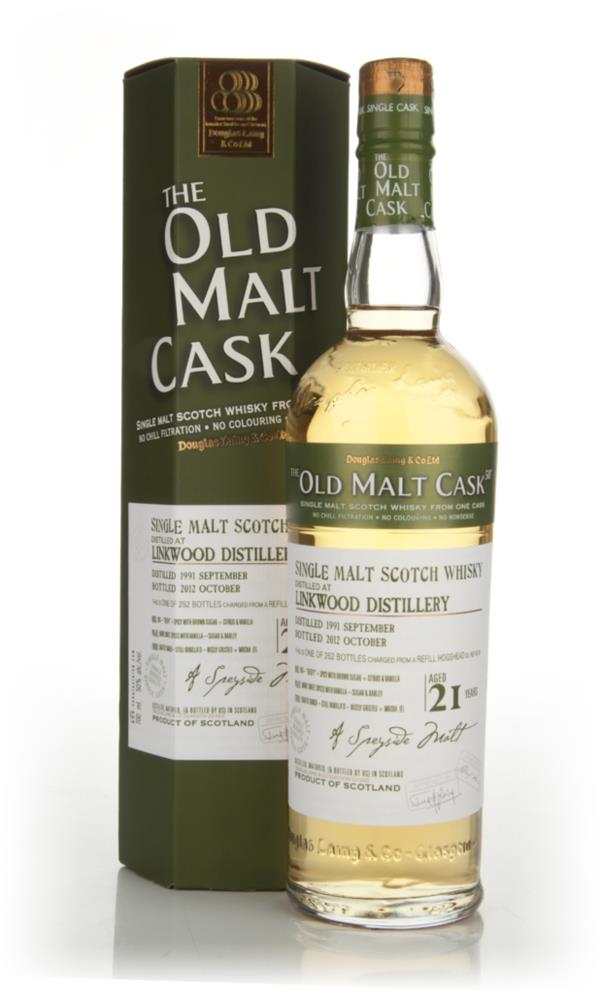 Linkwood 21 Year Old 1991 - Old Malt Cask (Douglas Laing) Single Malt Whisky