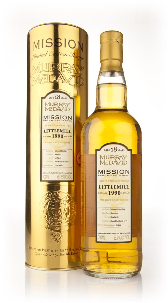 Littlemill 18 Year Old 1990 - Mission (Murray McDavid) Single Malt Whisky
