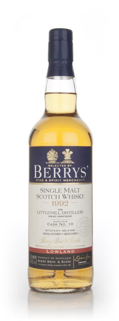 Littlemill 20 Year Old 1992 (cask 10) (Berry Bros. & Rudd) Single Malt Whisky