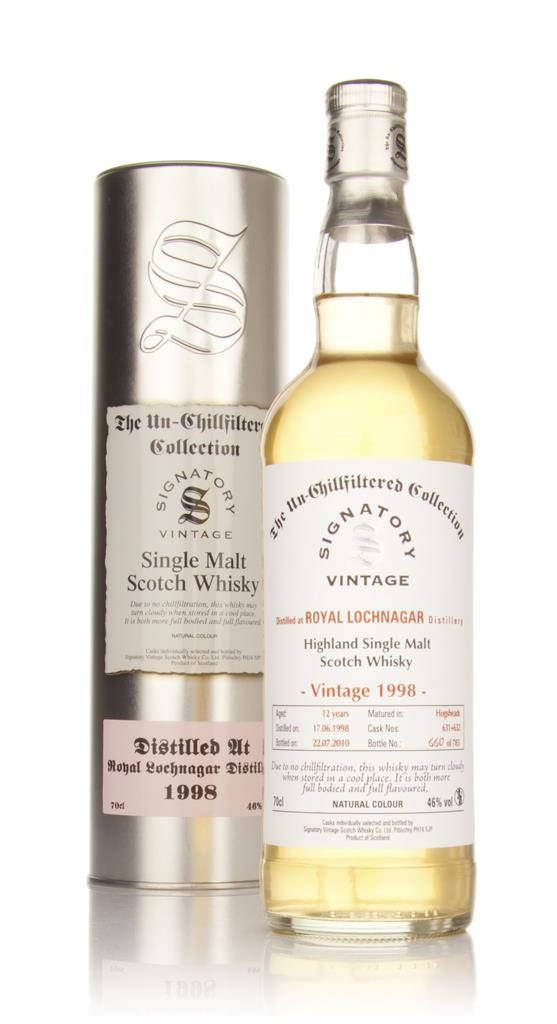 Royal Lochnagar 12 Year Old 1998 - Un-Chillfiltered (Signatory) Single Malt Whisky