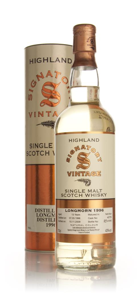 Longmorn 15 Year Old 1996 (Signatory) Single Malt Whisky