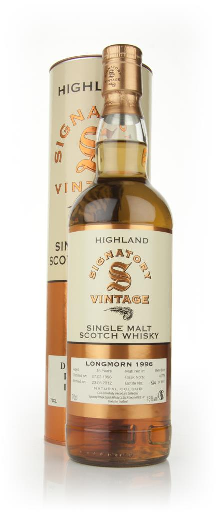 Longmorn 16 Year Old 1996 (Signatory) Single Malt Whisky