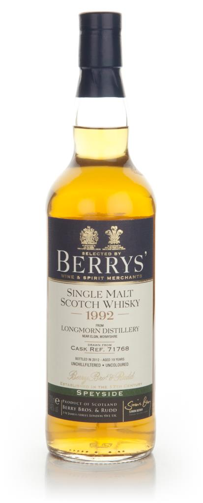 Longmorn 19 Year Old 1992 (Cask 71768) - Berry Brothers & Rudd Single Malt Whisky