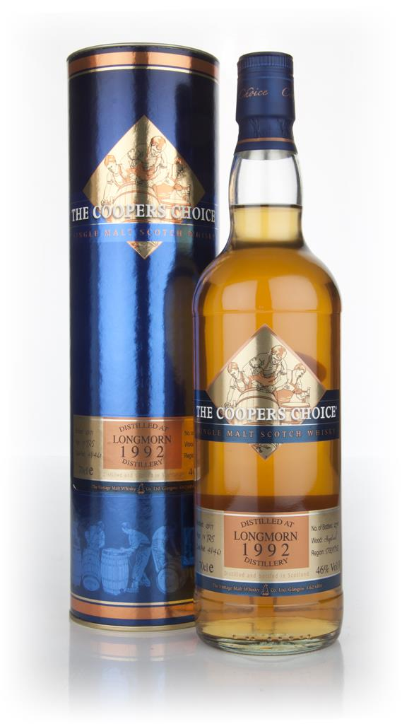 Longmorn 19 Year Old 1992 - Coopers Choice (Vintage Malt Whisky Co) Single Malt Whisky