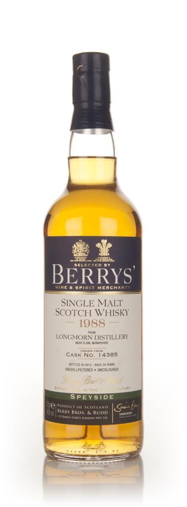 Longmorn 24 Year Old 1988 (cask 14385) - (Berry Bros. & Rudd) 3cl Samp Single Malt Whisky 3cl Sample