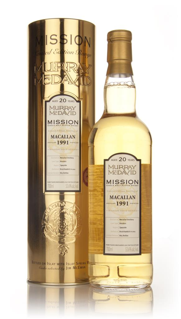 Macallan 20 Year Old 1991 - Mission (Murray McDavid) Single Malt Whisky