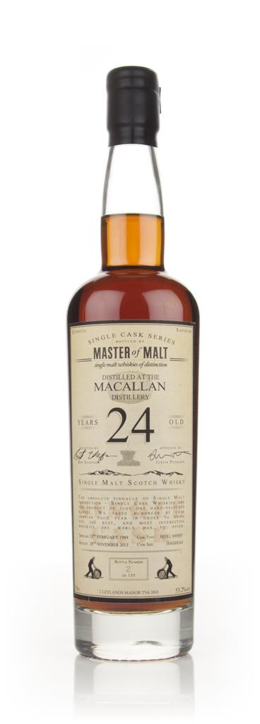 Macallan 24 Year Old 1989 - Single Cask (Master of Malt) Single Malt Whisky