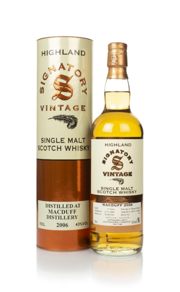 Macduff 14 Year Old 2006 (casks 102377 & 102389) - Signatory Single Malt Whisky