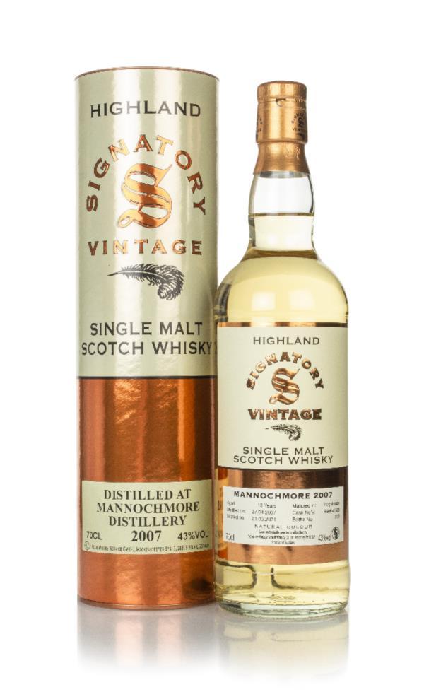 Mannochmore 13 Year Old 2007 (casks 6666 & 6669) - Signatory Single Malt Whisky
