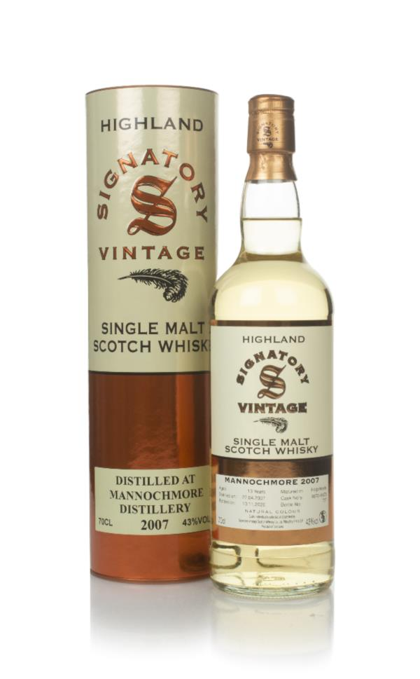 Mannochmore 13 Year Old 2007 (casks 6672 & 6673) - Signatory Single Malt Whisky