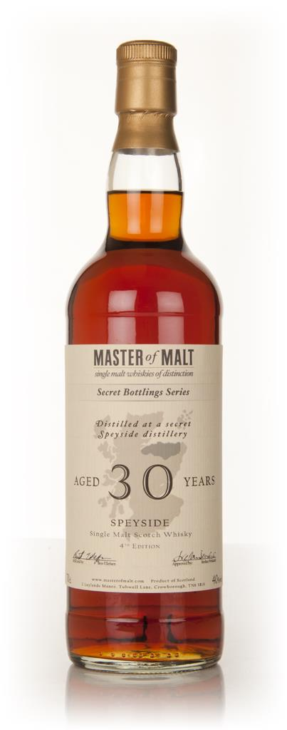 Master of Malt 30 Year Old Speyside (4th Edition) Single Malt Whisky