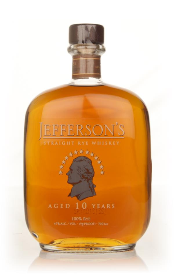 Jeffersons 10 Year Old Straight Rye Rye Whiskey