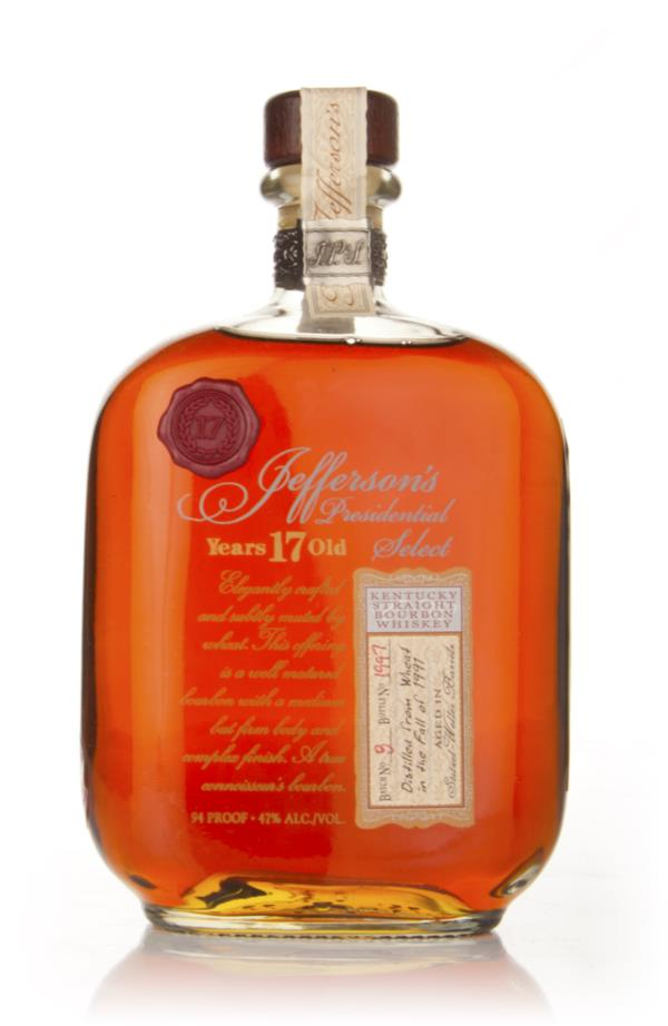Jeffersons 17 Year Old Presidential Select Bourbon Whiskey