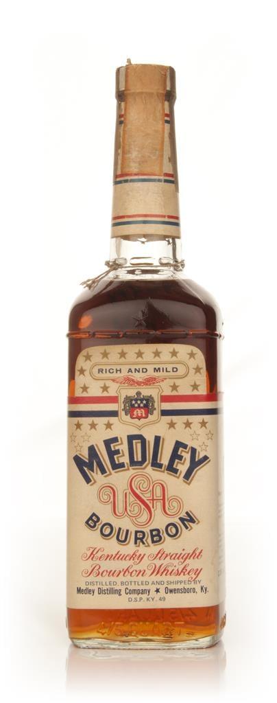 Medleys Kentucky Bourbon 43% - 1970s Bourbon Whiskey