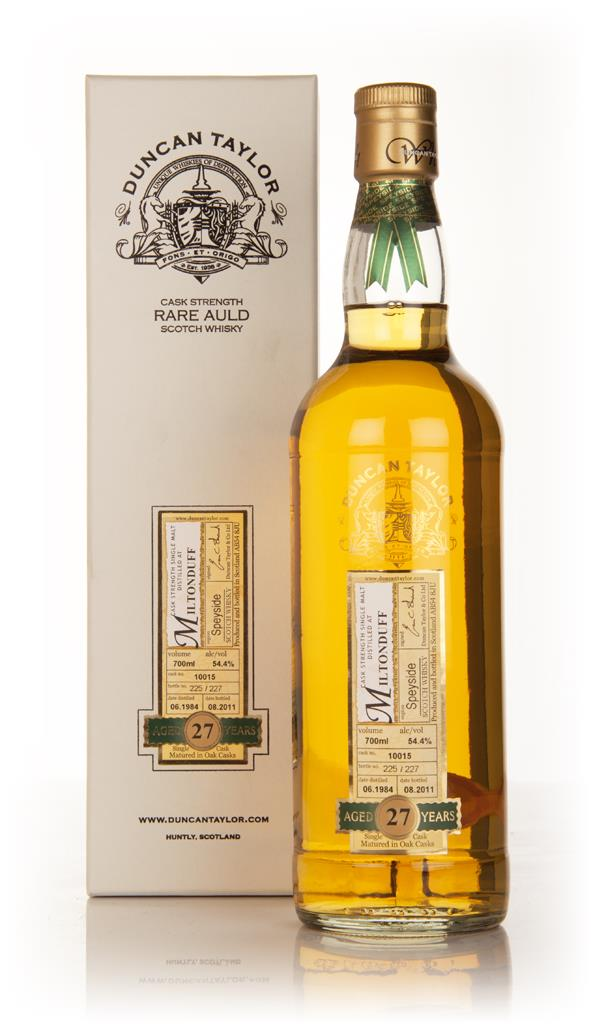 Miltonduff 27 Year Old 1984 - Rare Auld (Duncan Taylor) Single Malt Whisky