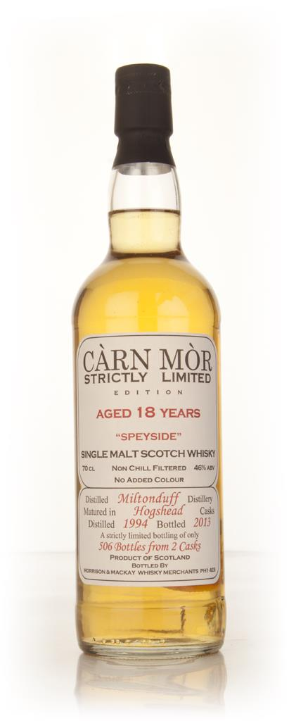 Miltonduff 18 Year Old 1994 - Strictly Limited (Carn Mor) Single Malt Whisky