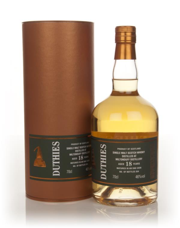 Miltonduff 18 Year Old - Duthies (WM Cadenhead) Single Malt Whisky