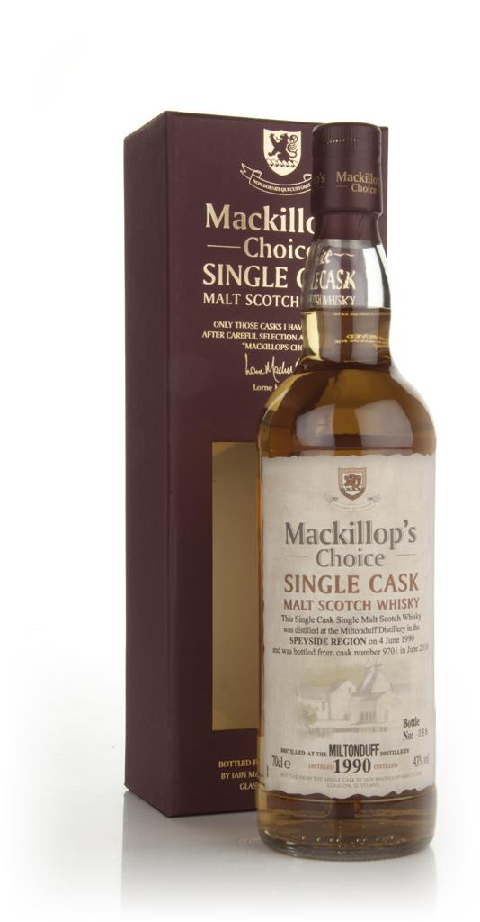 Miltonduff 1990 (cask 9701) - Mackillops Choice (bottled 2010) Single Malt Whisky