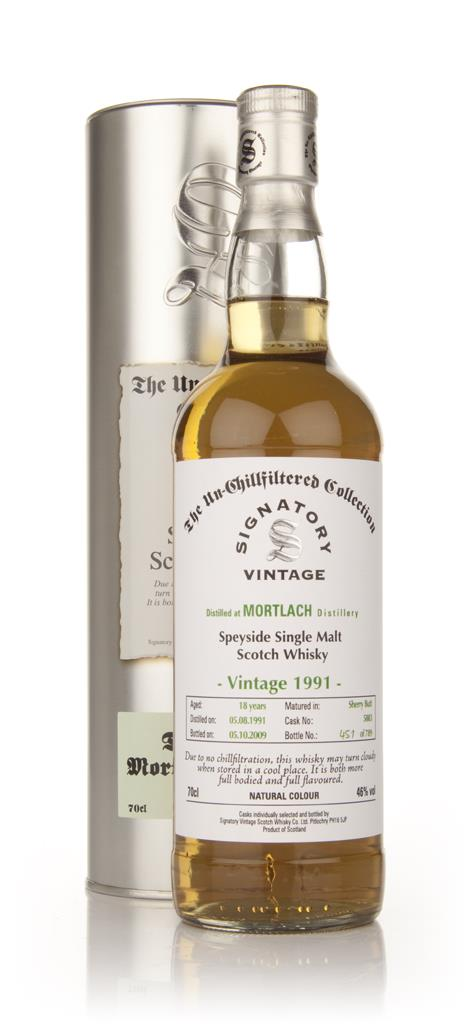Mortlach 18 Year Old 1991 - Un-Chillfiltered (Signatory) Single Malt Whisky
