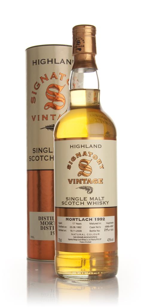 Mortlach 17 Year Old 1992 (Signatory) Single Malt Whisky