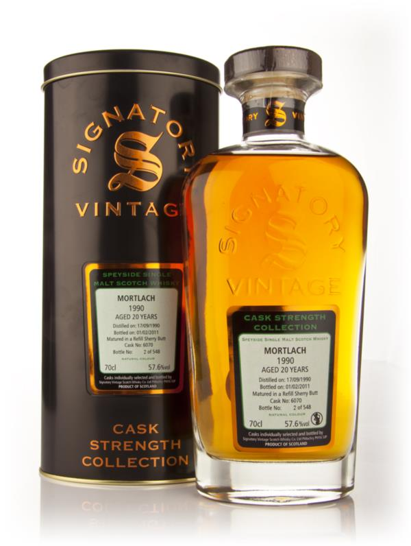 Mortlach 20 Year Old 1990 - Cask Strength Collection (Signatory) Single Malt Whisky