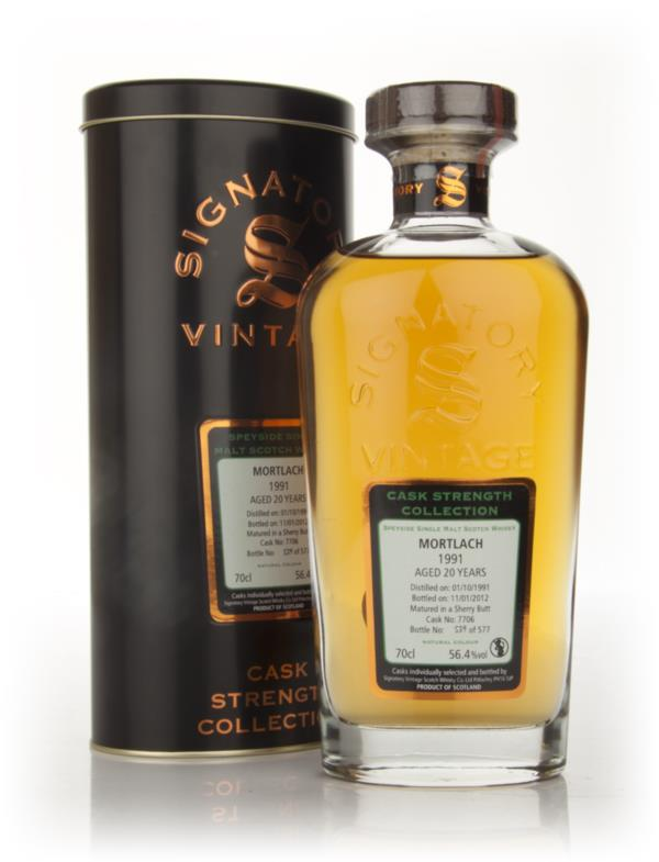 Mortlach 20 Year Old 1991 - Cask Strength Collection (Signatory) Single Malt Whisky