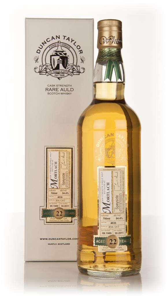 Mortlach 22 Year Old 1989 - Rare Auld (Duncan Taylor) Single Malt Whisky