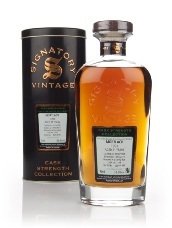 Mortlach 21 Year Old 1991 (cask 7708) - Cask Strength Collection (Sign Single Malt Whisky