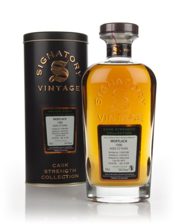 Mortlach 23 Year Old 1990 (cask 6074) - Cask Strength Collection (Sign Single Malt Whisky