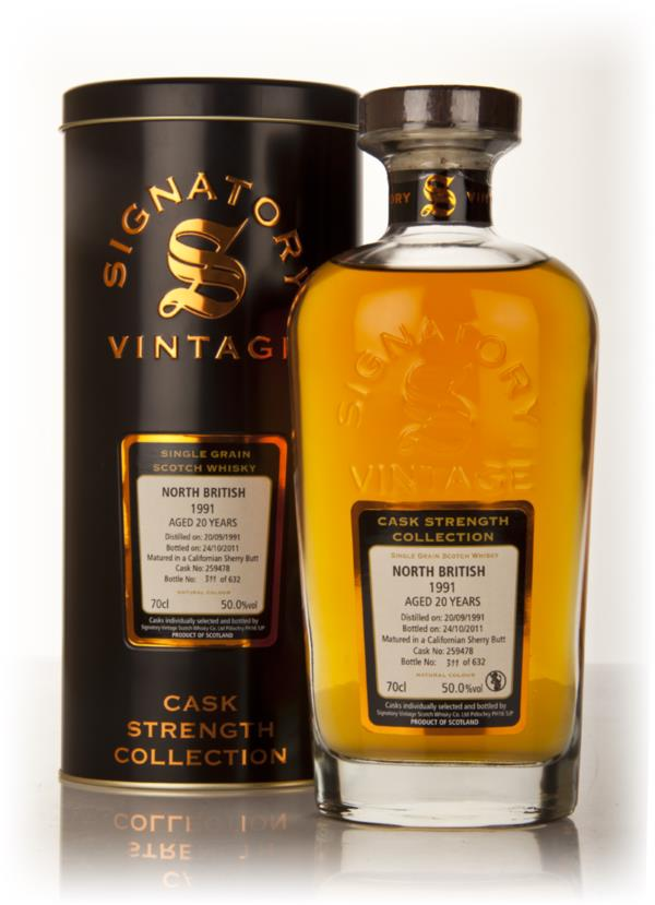 North British 20 Year Old 1991 - Cask Strength Collection (Signatory) Single Grain Whisky