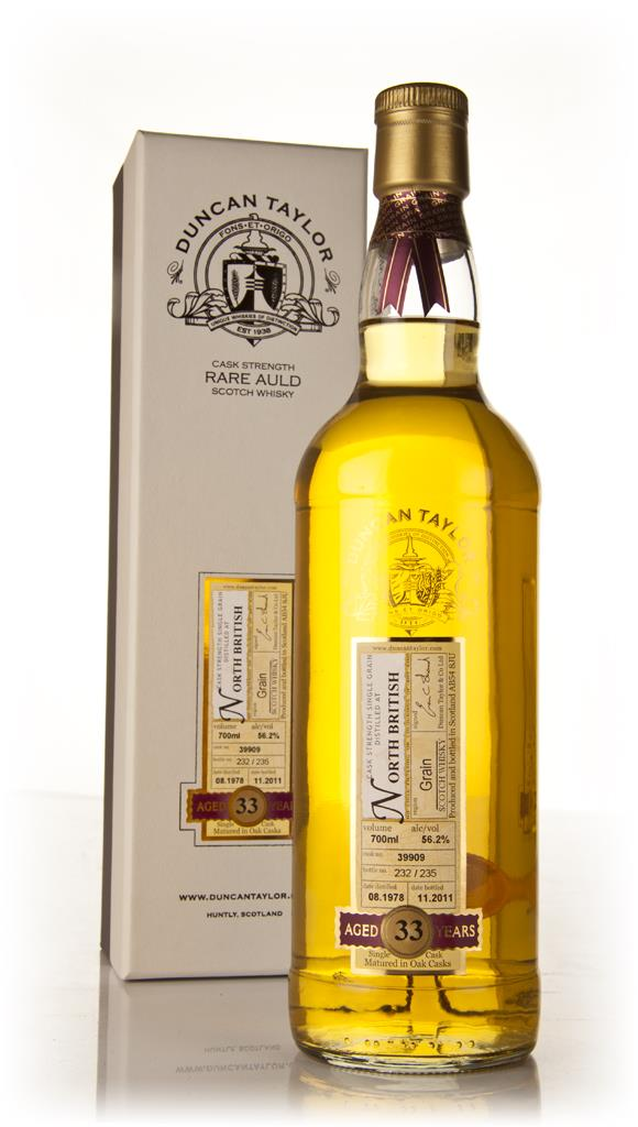 North British 33 Year Old 1978 - Rare Auld (Duncan Taylor) Single Grain Whisky