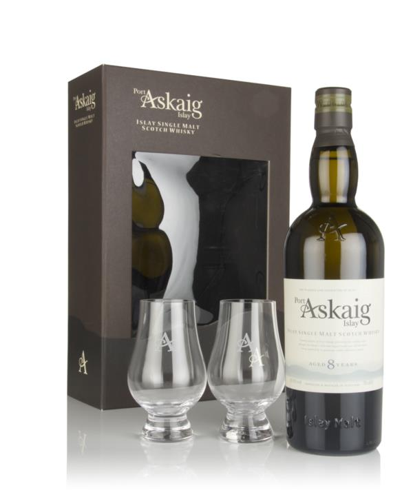 Port Askaig 8 Year Old Gift Pack with 2x Glasses Single Malt Whisky