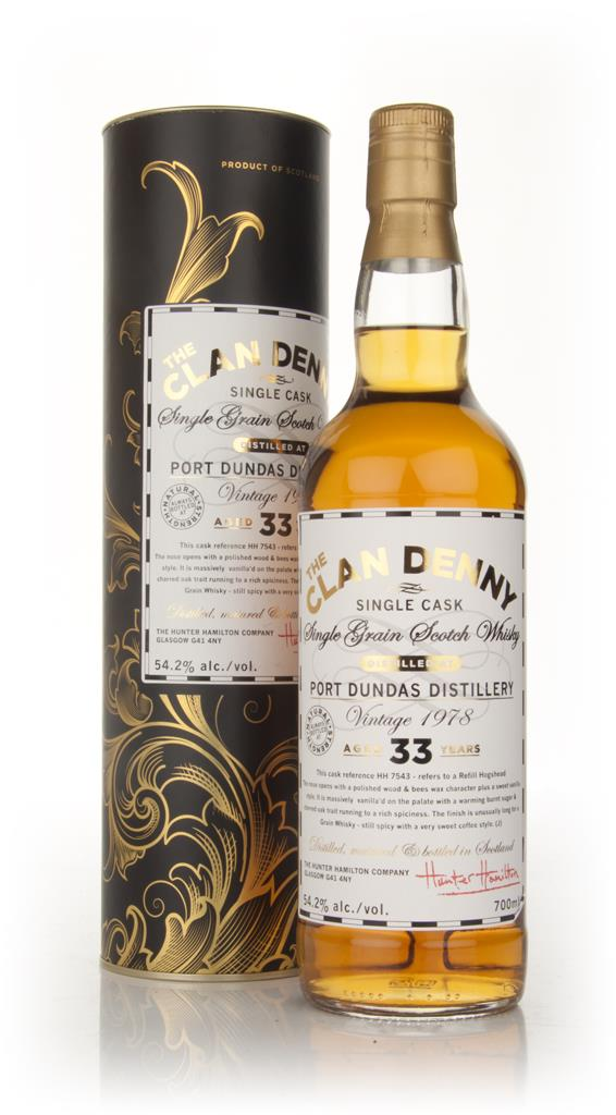 Port Dundas 33 Year Old 1978 - The Clan Denny (Douglas Laing) Single Grain Whisky