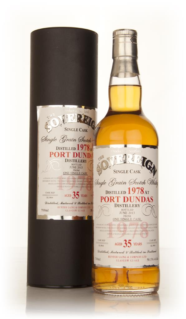 Port Dundas 35 Year Old 1978 (cask 9864) The Sovereign (Hunter Laing) Grain Whisky