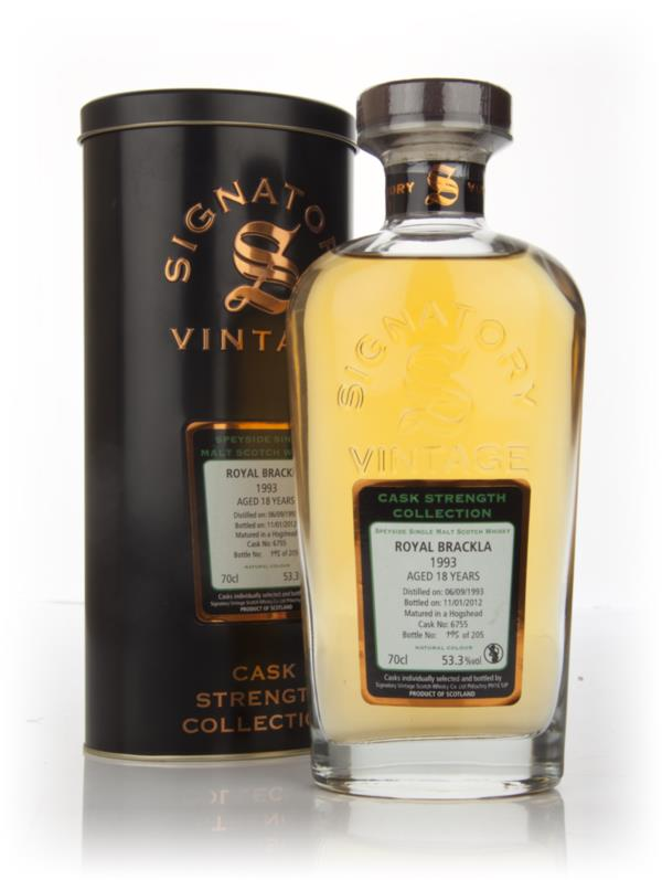 Royal Brackla 18 Year Old 1993 - Cask Strength Collection (Signatory) Single Malt Whisky