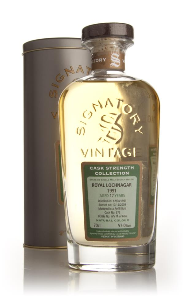 Royal Lochnagar 17 Year Old 1991 - Cask Strength Collection (Signatory Single Malt Whisky