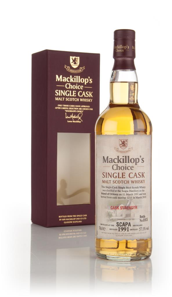 Scapa 22 Year Old 1991 (cask 1211) - Mackillop's Choice Single Malt Whisky
