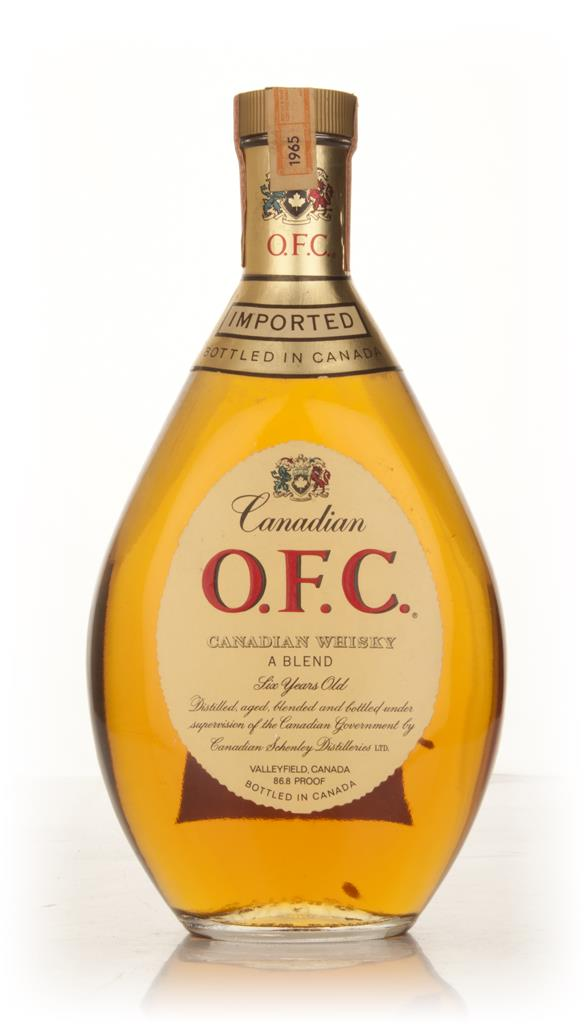 Schenley O.F.C. 6 Year Old Canadian Whisky - 1965 Blended Whisky