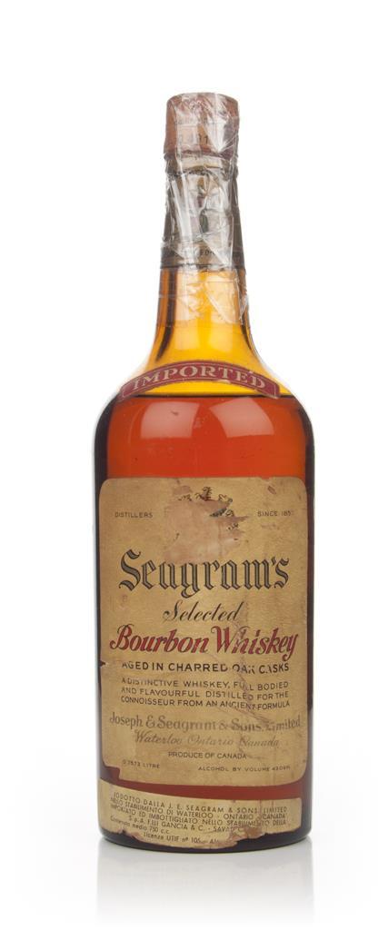 Seagram's Selected Bourbon Whiskey - 1940s Bourbon Whisky