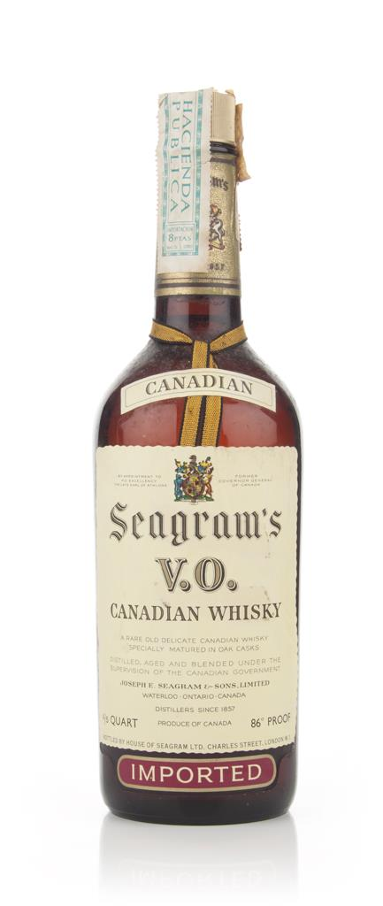 Seagrams V.O. 6 Year Old Canadian Whisky - 1973 Blended Whisky