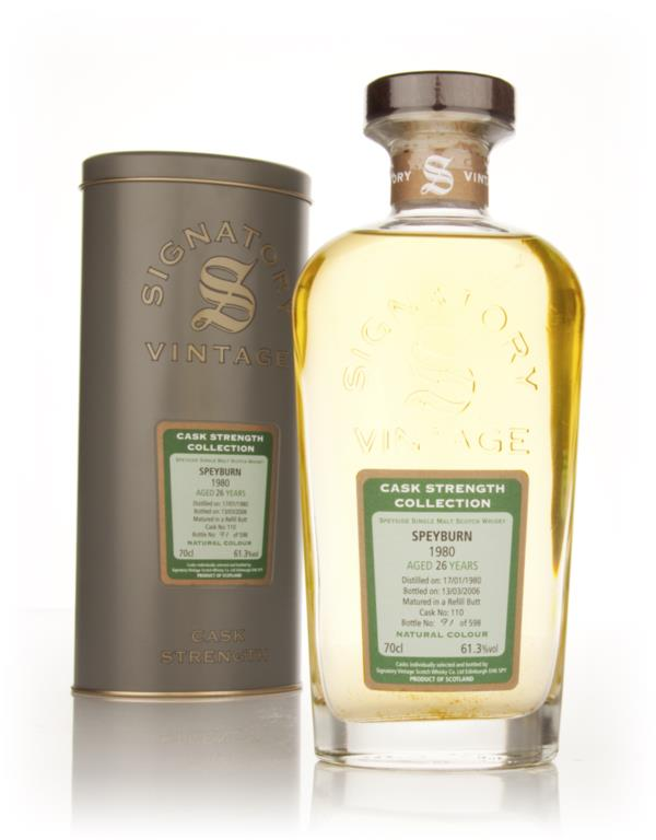 Speyburn 26 Year Old 1980 Cask 110 - Cask Strength Collection (Signato Single Malt Whisky