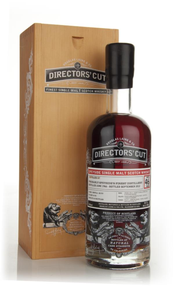 Speyside 46 Year Old 1966 - Directors Cut (Douglas Laing) Single Malt Whisky