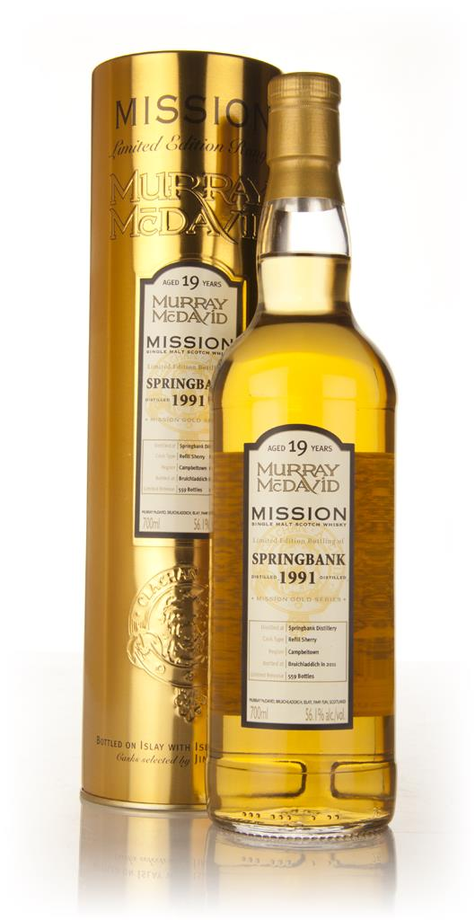 Springbank 19 Year Old 1991 - Mission (Murray McDavid) Single Malt Whisky