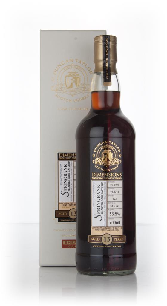 Springbank 13 Year Old 1999 (cask 123) - Dimensions (Duncan Taylor) Single Malt Whisky