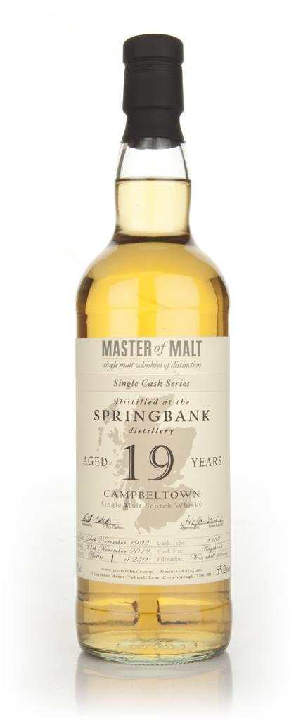 Springbank 19 Year Old Cask 482 - Single Cask (Master of Malt) Single Malt Whisky