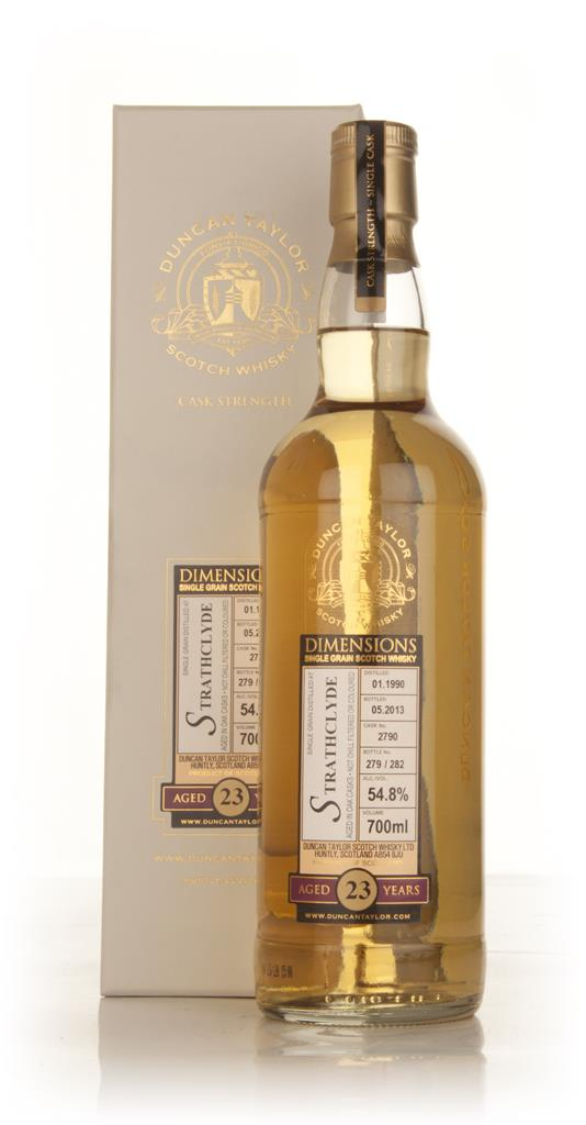 Strathclyde 23 Year Old 1990 (cask 2790) - Dimensions (Duncan Taylor) Grain Whisky