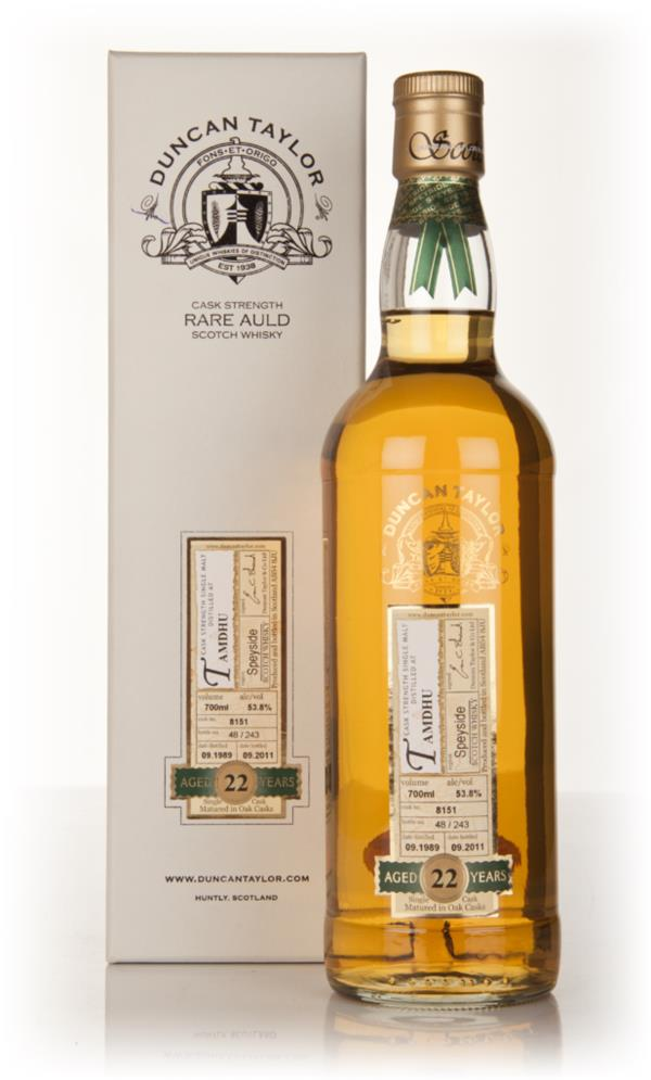 Tamdhu 22 Year Old 1989 - Rare Auld (Duncan Taylor) Single Malt Whisky