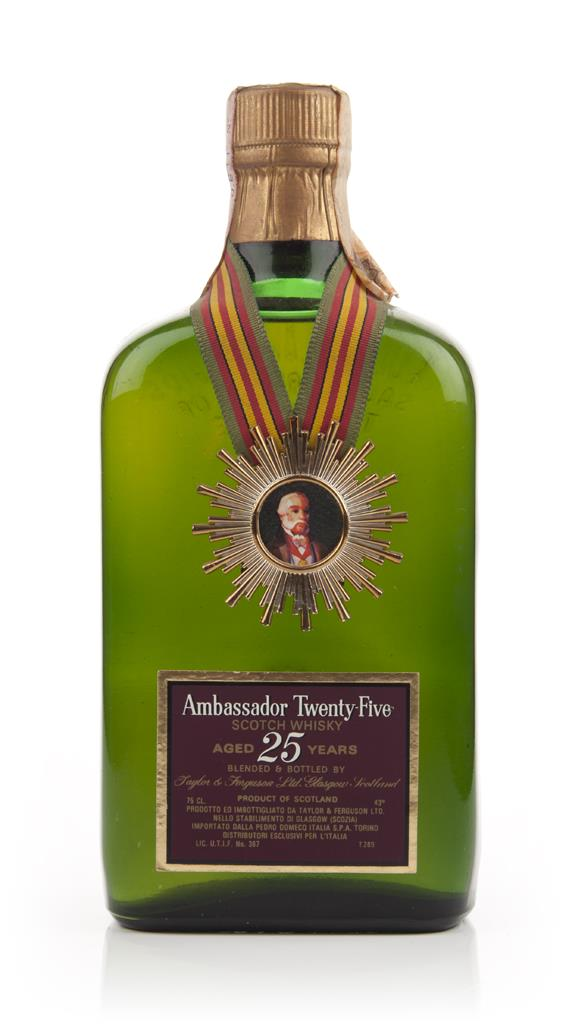 Ambassador 25 Year Old Blended Scotch - 1960s Blended Whisky